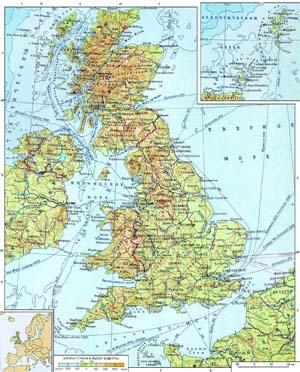 Great britain карта великобритании